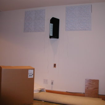 Side Wall with Atlantic Technology 454e, THX Ultra Surround Channel Speakers & Acoustic Diffusors