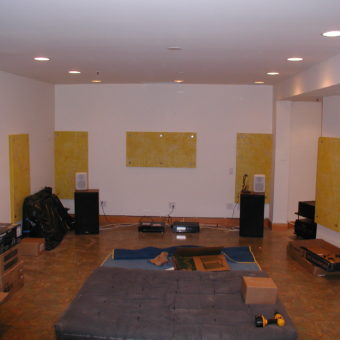 Front Wall & Side Walls with Sound Absorbing Acoustic Panels