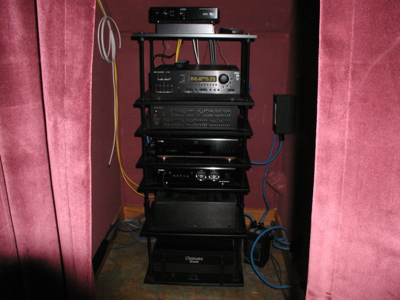 Finished Audio Video Rack